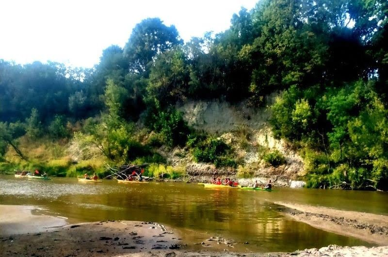 Kayaks on the Bug River in Włodawa